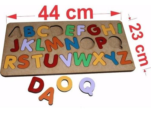 4pçs tabuleiro alfabeto+números+vogais+bichos
