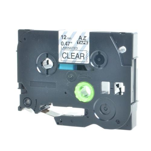 4pk 1/2 pulgada 12mm negro sobre claro tz-131 cinta de etiqu