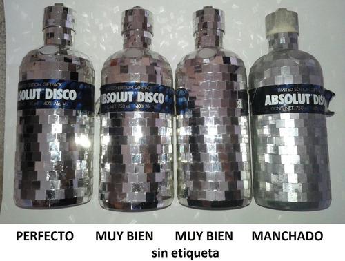 4pk estuche coleccion absolut 3/4 disco vodka dj esfera