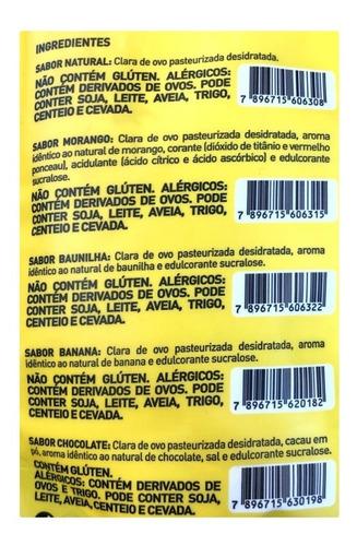 4x albumina 500g total 2kgs naturovos validade fevereiro/21