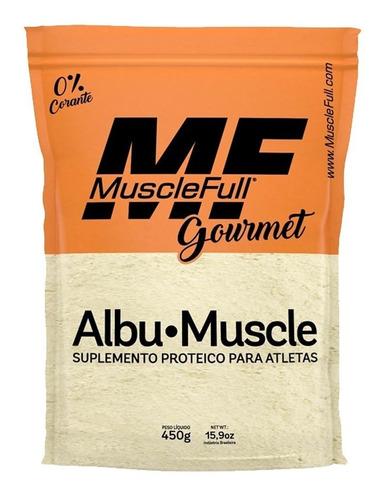 4x albumina proteína do ovo albu-muscle 450g muscle full