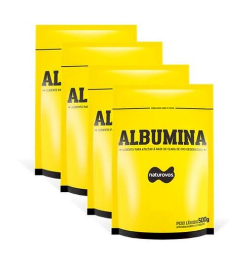 4x albumina refil 500g - naturovos (parcelado até 12x)