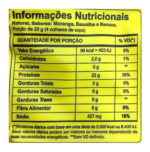 4x albumina refil 500g total 2kgs naturovos (vários sabores)