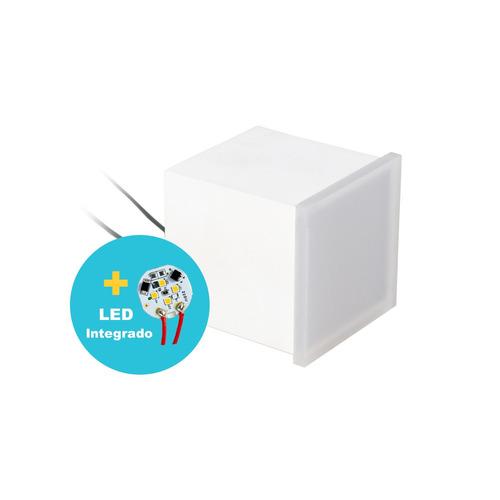 4x balizador 5x5 cm led 5,5w  p/ embutir na parede ou escada