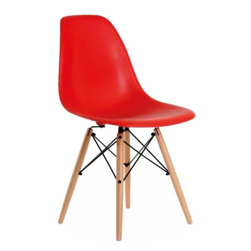 4x cadeiras vermelhas eames wood melhor preço frete grátis