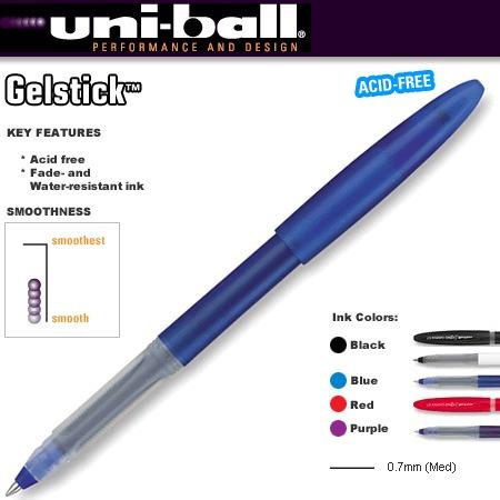 4x caneta gel uni-ball signo gelstick 0.7 um-170 vermelha