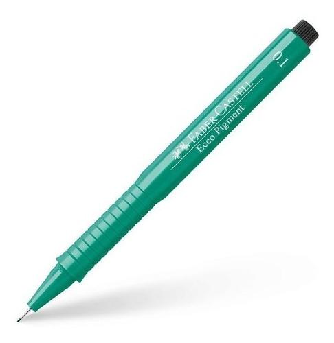 4x caneta nankin faber castell ecco pigment verde 0,1 ao 0,7