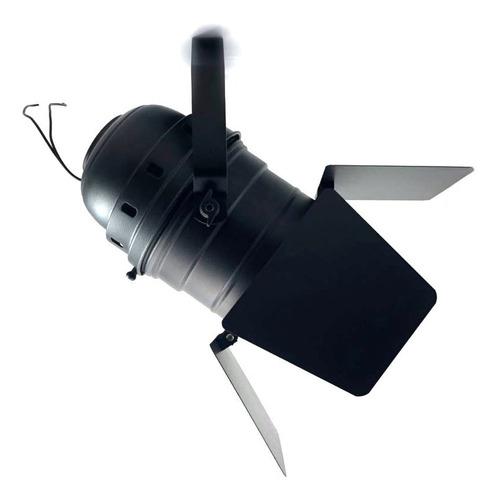 4x canhão refletor par 56 spot grande com barndoor - e-27