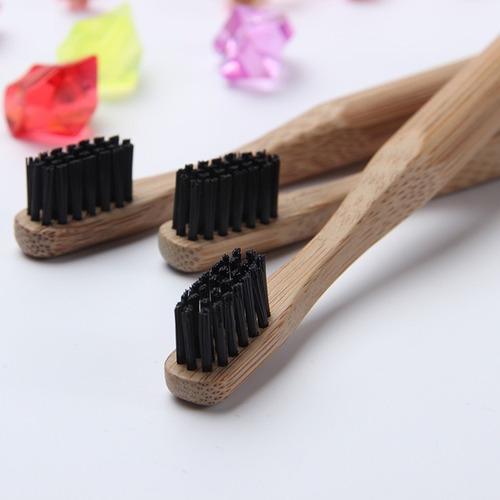 4x escovas de dente ecológica com cabo de bambu - infantil