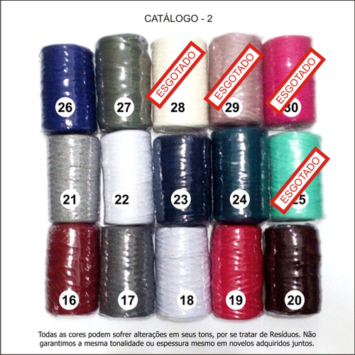 4x fios de malha tear nobre 500 gramas - várias cores