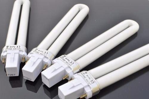 4x lâmpada branca uv 9w cabine de unhas gel acrigel promo