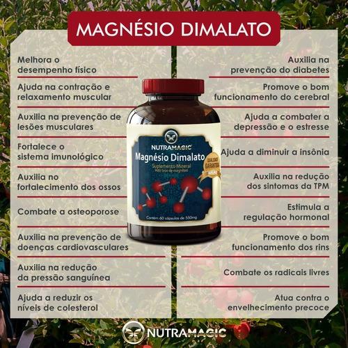 4x magnésio dimalato nutramagic - melhor preço