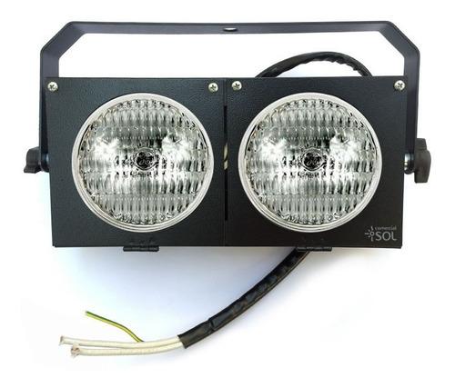 4x mini brute par duplo c/ lâmpada  - 220v - show