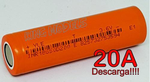 4x pçs bateria li-ion 18650 - rontek - 2000mah - 20a