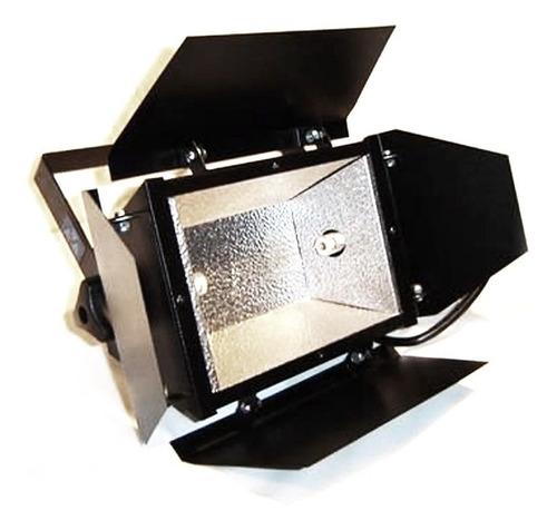 4x refletor colortran com lampada - 300w / 500w / 1000w