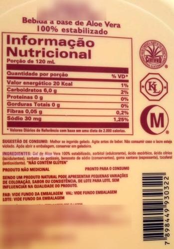 4x suco de aloe vera gel - babosa natural - forever