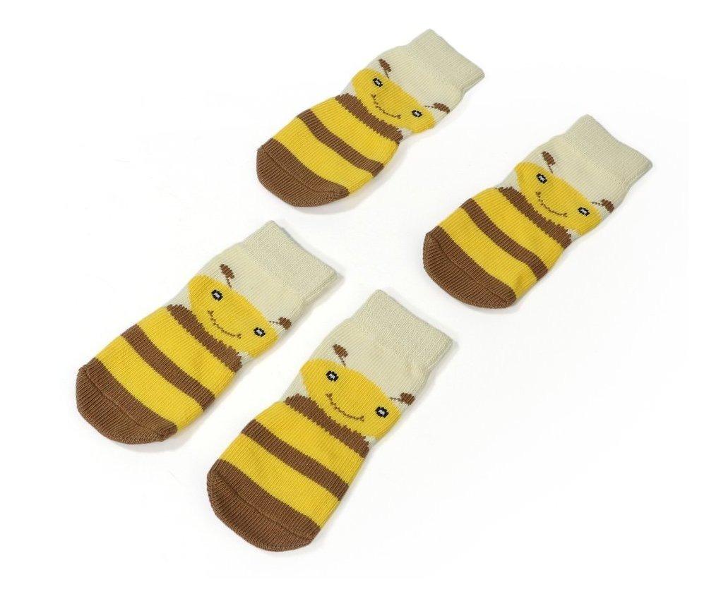 4xl Amarillo Mascota Calcetines De Alaska Pino León Dorado P
