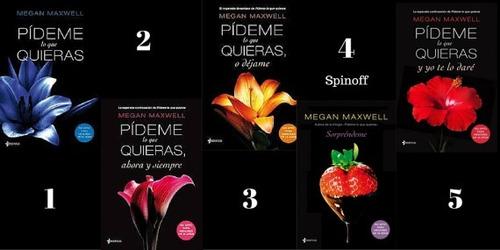 5+1 libros saga pideme lo que quieras (uno de regalo)