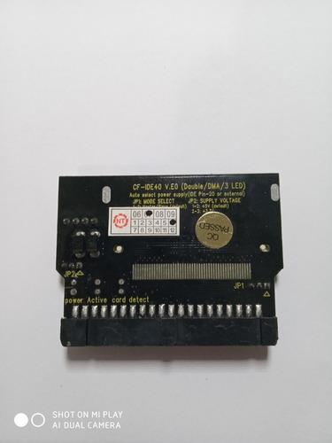 5 adaptadores ide cartão compact flash 40 pin + 2 mem 512 mb