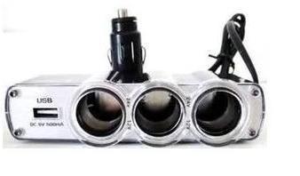 5 adaptadores veicular triplo 12v usb isqueiro carro leilao