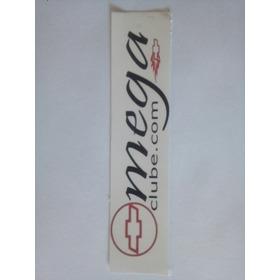 5 Adesivo Omega Clube Em Vinil Branco Ou Transparente