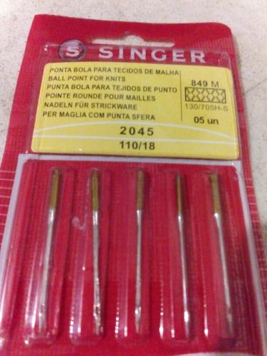 5 agujas singer para maquina de coser 2045   110/18