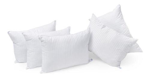 5 almohadas microgel deluxe + 5 fundas satin