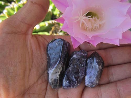 5 amatistas rugosas de mina cuarzo sanación reiki