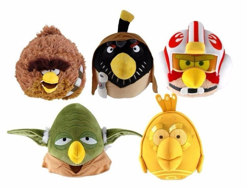 5 angry birds star wars peluches 13cm c/ sonido wabro filsur