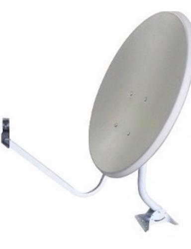 5 antenas ku 60 cm + kits  de fixação