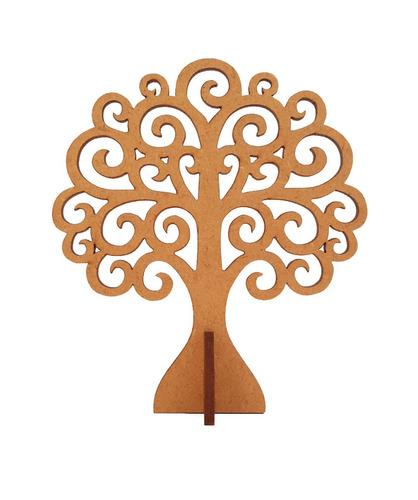 5 árvore provençal mdf crú festa enfeite de mesa 10 cm festa