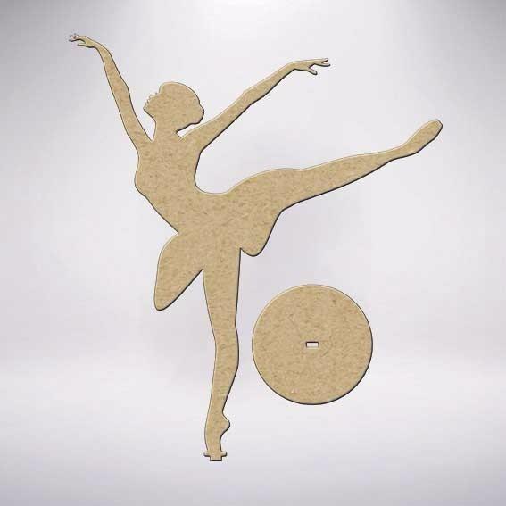 8a8dfac617 5 Bailarina Na Base Mdf Crú Festa Mesa R17 25cm Lembrancinha - R  20 ...