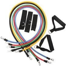 5 bandas elasticas tubulares,tapout, p90x,focus t25,insanity
