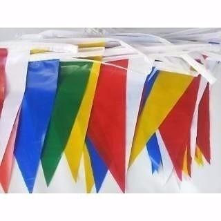 5 banderines de colores