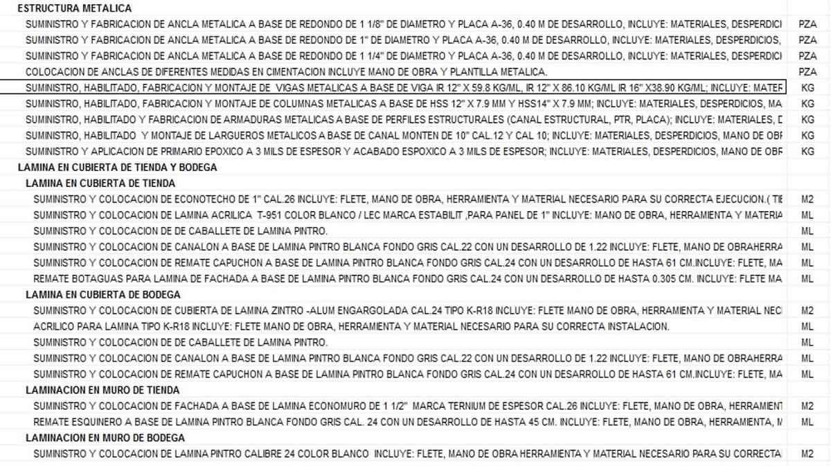 Estructuras metalicas precios good naves mixtas de - Precio estructura metalica ...