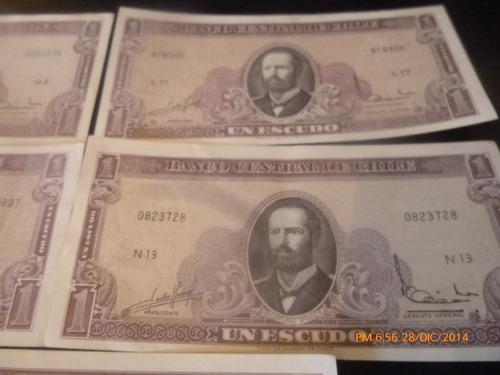 5 billetes de 1 escudo massad ibañez  distinta serie (c-35-3