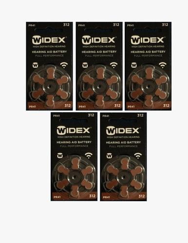 5 blister de pila widex #312 (30 pilas)