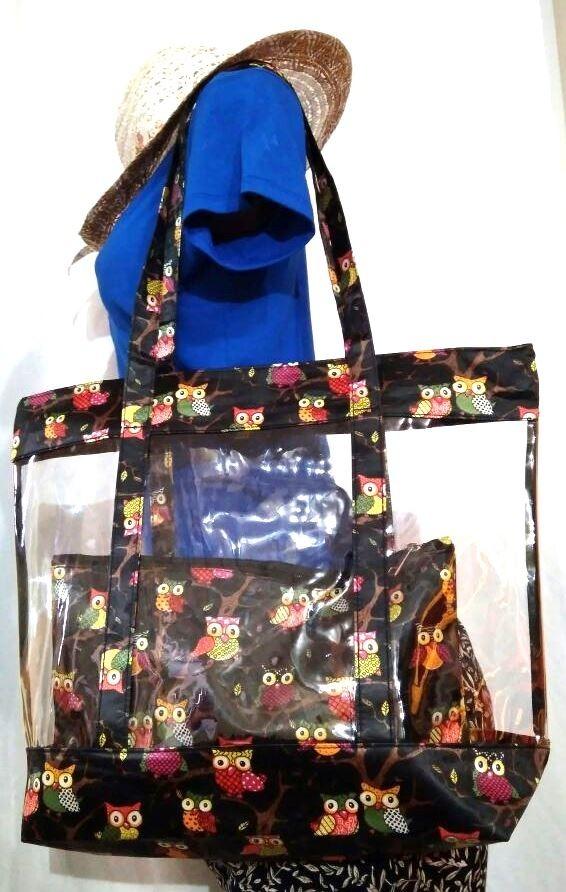 110b6a344 5 bolsa sacola transparente praia verão 2 peças atacado. Carregando zoom.