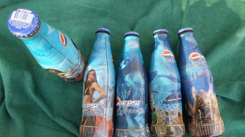 5 botellas pepsi music llenas