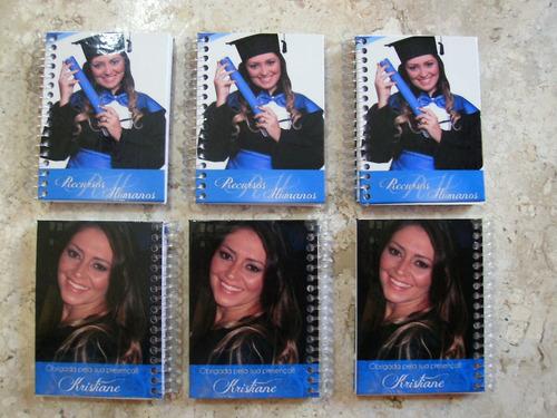 5 caderneta / bloquinho - lembrancinhas, brindes, formatura
