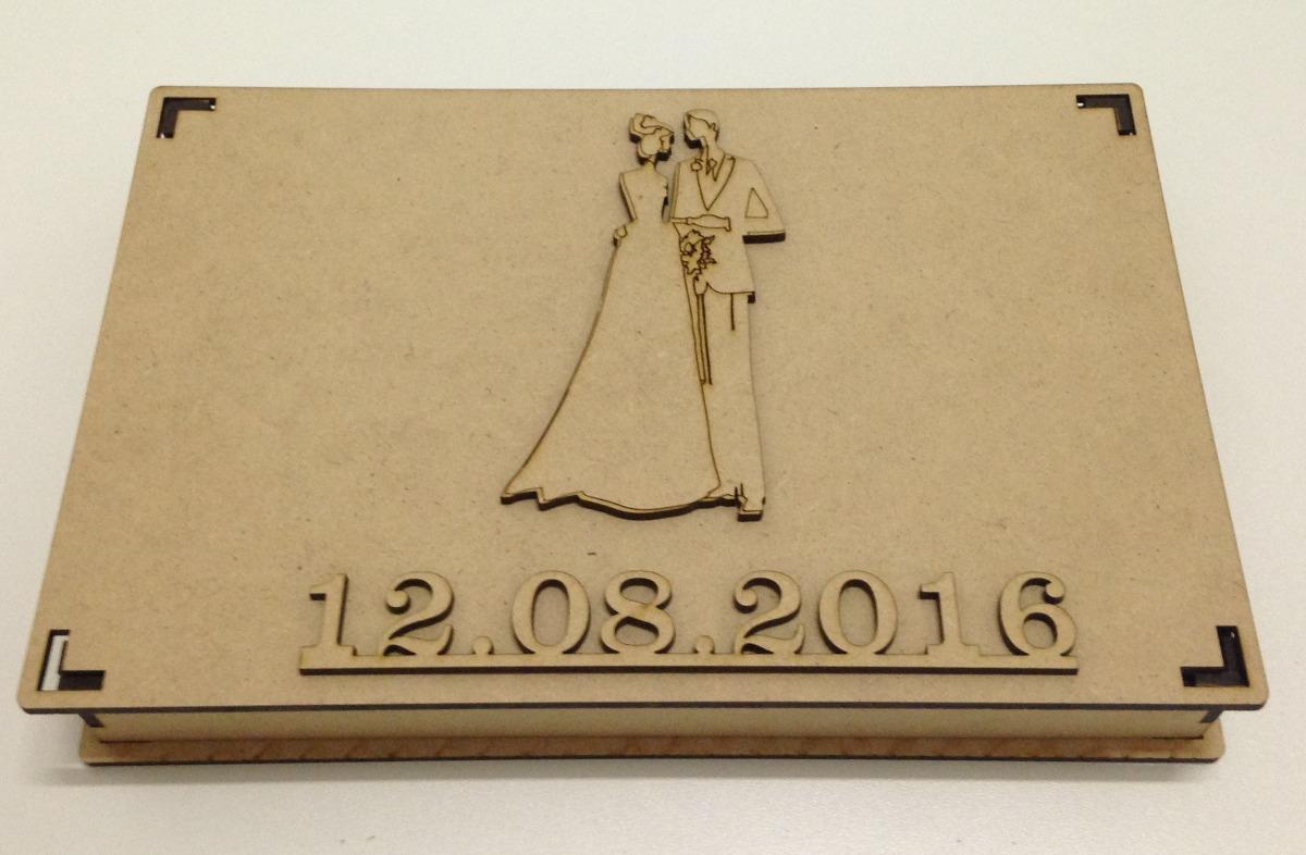 5 Caixa Mdf Convite Especial Padrinhos De Casamento 24x15x3 R 42
