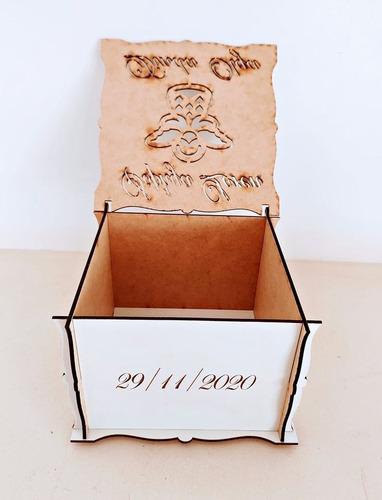 5 caixas para lembrancinha de batizado mdf