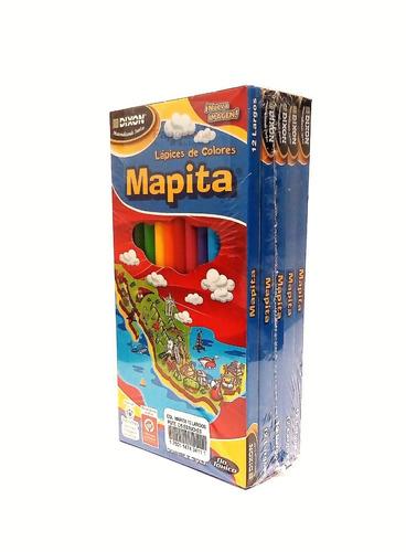 5 cajas  de colores mapita con 12 largos
