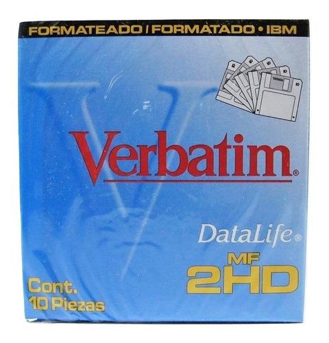 5 cajas de disquettes diskettes 3.5 verbatim envío gratis
