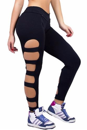 5 calça legging rasgada ginastica e academia melhor preço !!