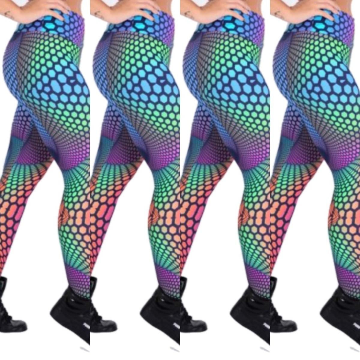 6ad1158f9 5 Calças Legging Estampada Moda Fitness Feminina Atacado - R  79