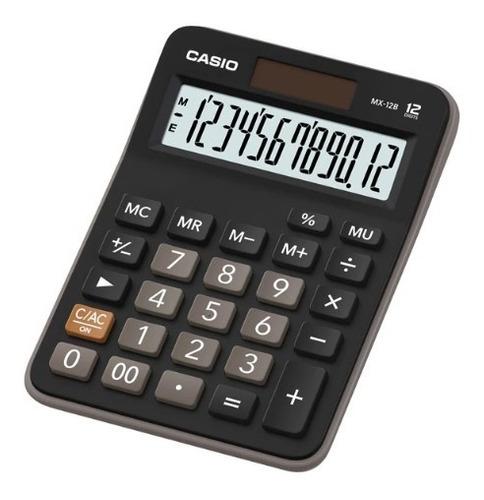 5 calculadora casio mx-12b preta de mesa 12 dígitos nf lacre