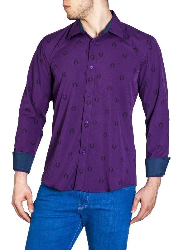 f22d3b5132 5 camisa social masculina manga longa com lycra - liquidação. Carregando  zoom.