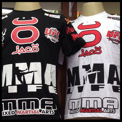 5 camisas fight wear - jiu jitsu, venum, pretorian, ufc, mma