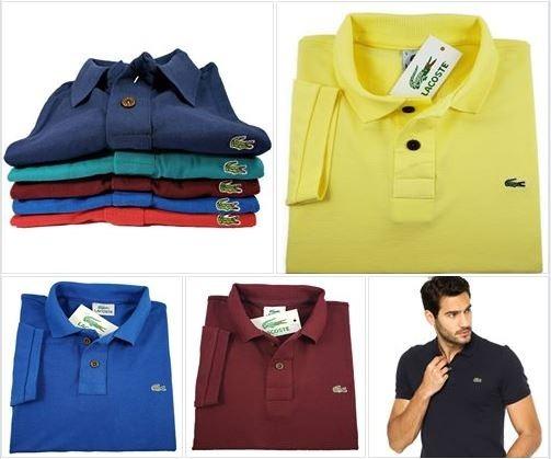 b6e8783cc3e 5 Camisas Polo Basica Atacado E Varejo Gola Polo Masculino - R  169 ...